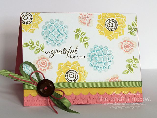 So Grateful For You : Scrapping Mommy by mommy2darlings, via Flickr also used Potted Garden stamp set