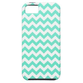 Noble Chevron Mint Gren And White iPhone 5 Cases
