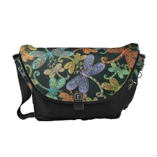 Dragonfly Magic Messenger Bags