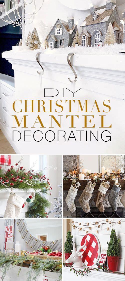DIY- Christmas Mantel Decorating Ideas Crafts Christmas