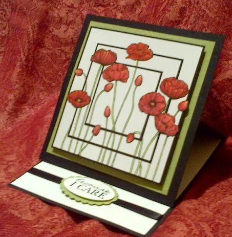 Pleasant Poppy Easel Card