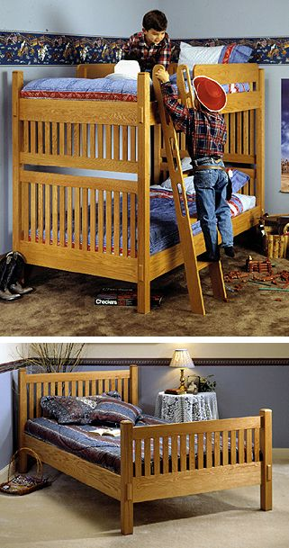 70 best images about bunk bed plans on pinterest for Arts and crafts bed plans