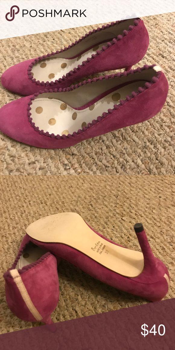 Boden Polly Mid-heel Courts Beautiful suede in Fallen Fruit. Very little wear. Size 39 Boden Shoes Heels