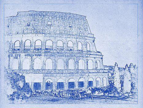 Architecture Blueprints Art wonderful architecture blueprints art vector clipartby