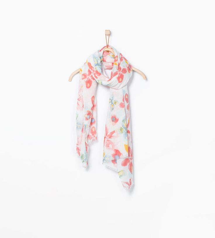 ZARA - KIDS - Floral and butterfly print scarf