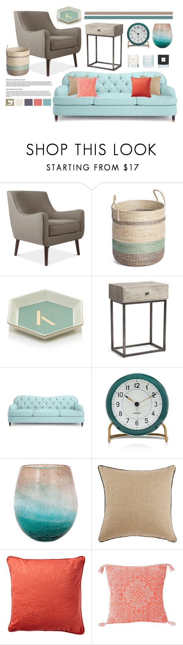 """""""Sea Breeze"""" by cherieaustin on Polyvore featuring interior, interiors, interior design, home, home decor, interior decorating, Twelve NYC, Levi's, Kate Spade and Carl Mertens"""