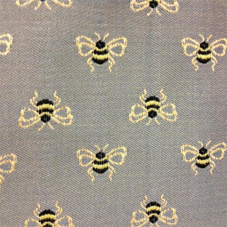 bee upholstery fabric   Bumble Bounce Junipher Grey Bee Upholstery Fabric