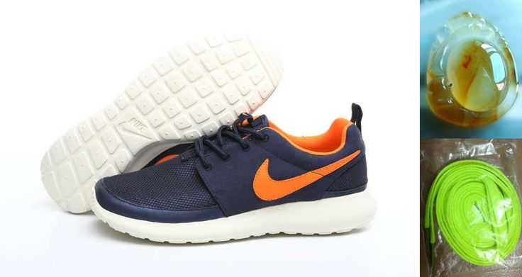 Nike Roshe Run Classic Elite Obsidian Blue Orange 511881 528 Chalcedony Pendant Volt Lace Gifts