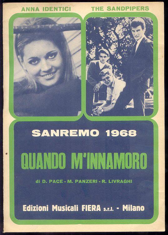 Anna Identici + The Sandpipers (spartito Sanremo 1968)