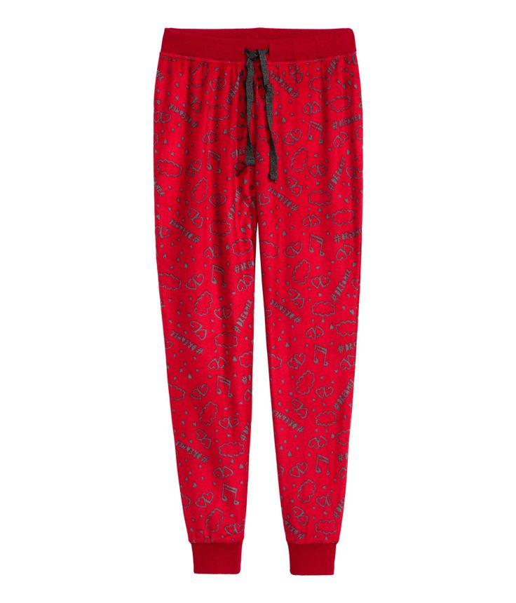 Fleece pyjamabroek