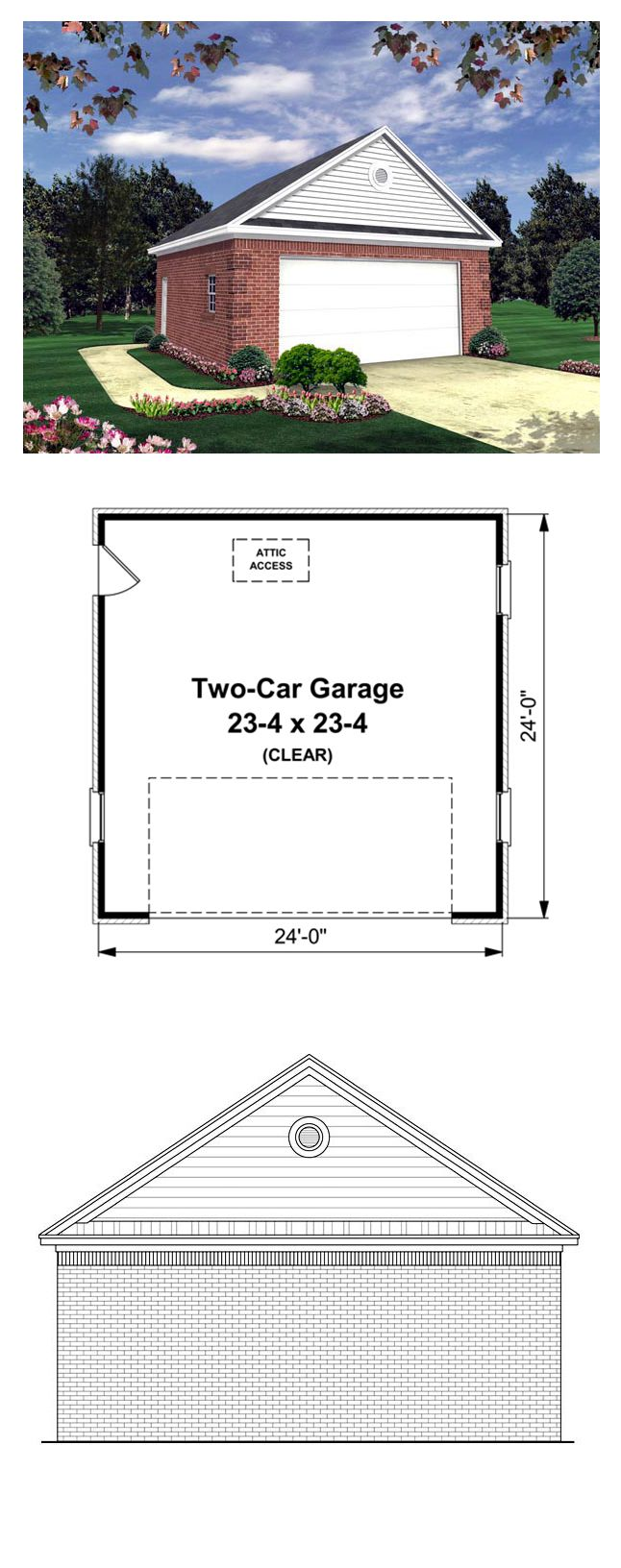 Country Traditional Garage Plan 59119