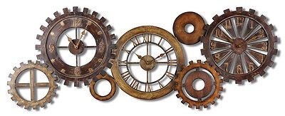Wall clock large decorative #rustic gear steampunk #style #oversized clocks new,  View more on the LINK: 	http://www.zeppy.io/product/gb/2/282266249048/