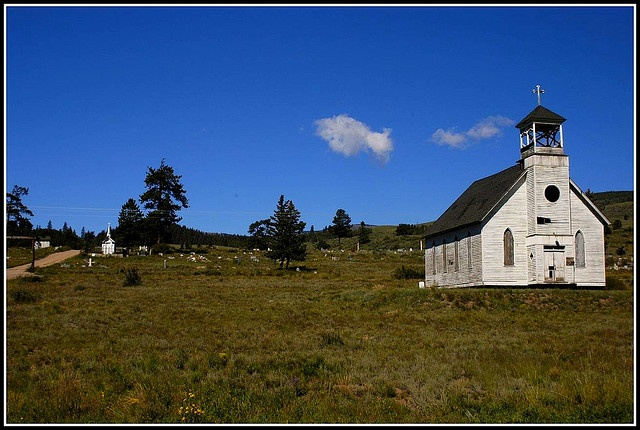 Church on the hill above Creede, Colorado where Bob Ford ...