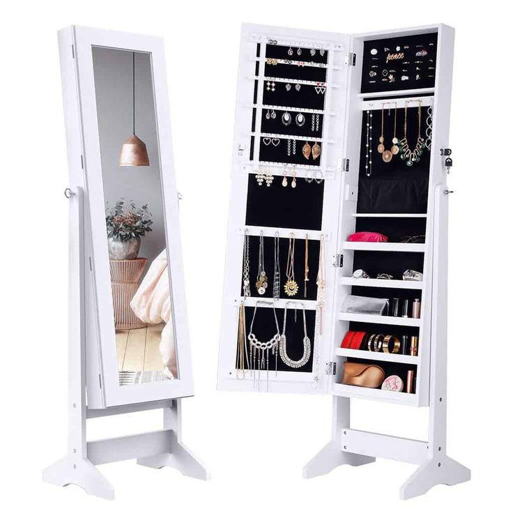 Jewelry Cabinet With Full Length Mirror Dubai
