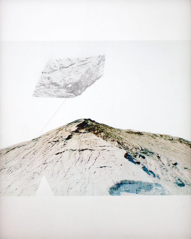 Haldes Urbaines 8  Impression numérique et graphite sur deux feuilles de papier Mylar.  32 cm x 20 cm  #art #drawing