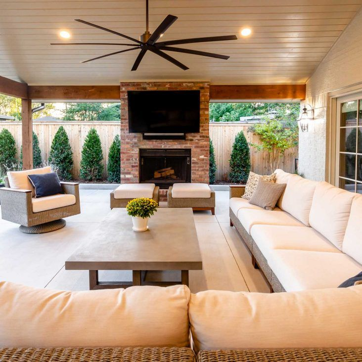 Outdoor Living Construction Projects Tulsa Home Innovations Outdoor Living Rooms Outdoor Rooms Outdoor Living Space #outdoor #living #room #fireplace
