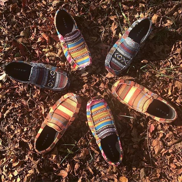 Get your chill on in these new womens Roper southwest shoes