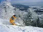 Abfahrtslauf gibt es auch direct nebenan. Stoneham hat sogar 19 Nacht Ski trails