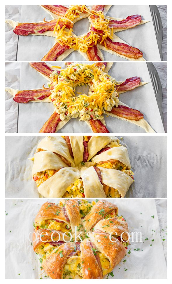 Crescent Bacon Breakfast Ring - perfect for Mother's day | Jo Cooks