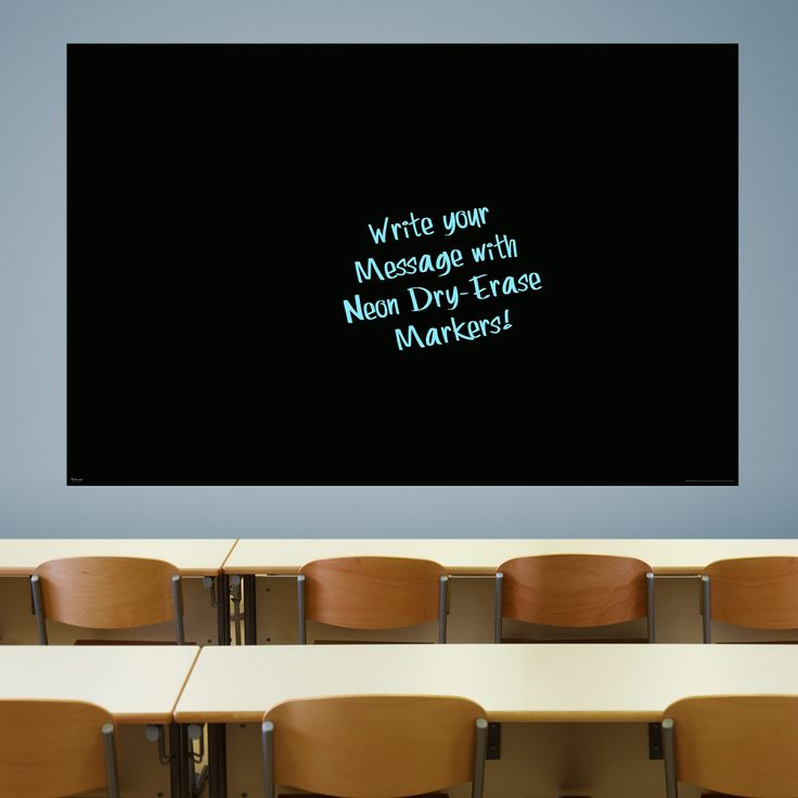 Get the large for office wall... Jumbos too big! ...Jumbo Black Dry Erase Board by Fathead