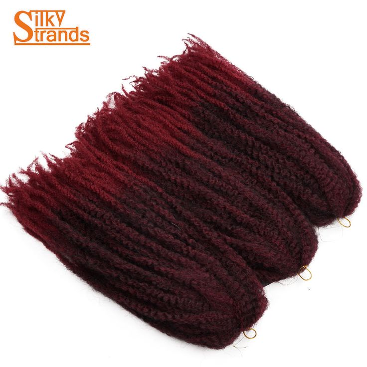 Silky Strands 20Roots Crochet Marley Braids Hair 18'' Afro Kinky Soft Twist Ombre Braiding Hair Extensions Low Temperature Fiber