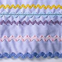 Ric rac, rick rack, or rickrack -- by any spelling, it refers to the flat-woven trim that has zigzagged its way across antique aprons and linens too numerous to count.