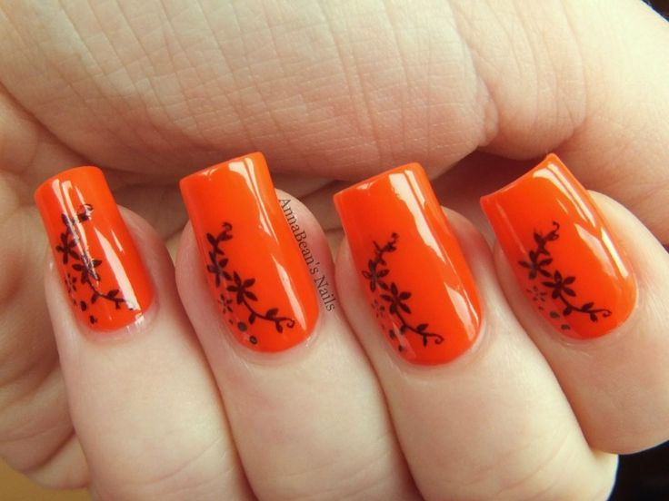 20 Beautiful Orange Nail Art Designs - Top 25+ Best Orange Nail Art Ideas On Pinterest Toenails