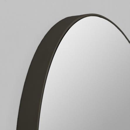 Modern Black Circular Round Mirror | Various Sizes