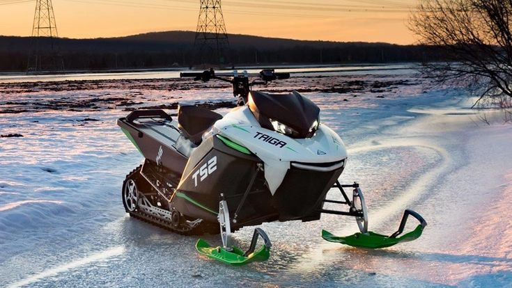 world's first electric snowmobile