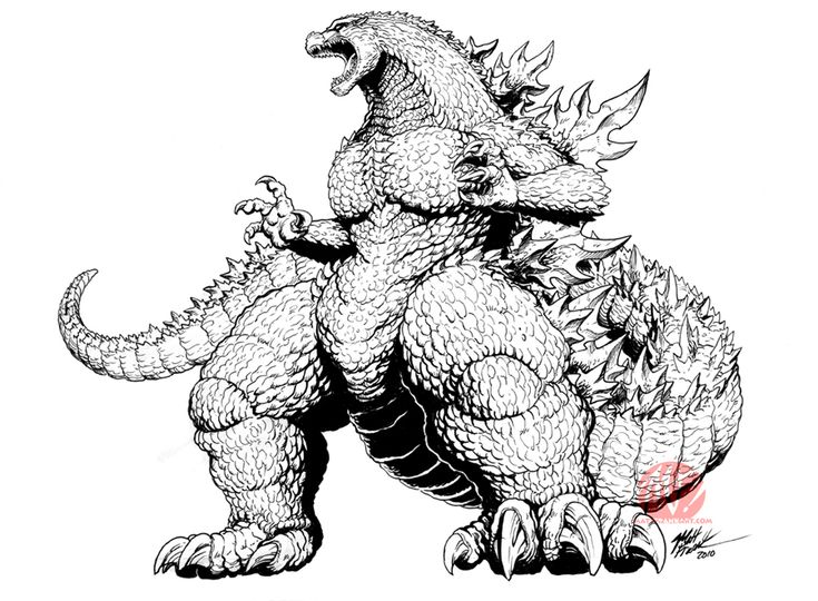 59 best LineArt: Godzilla images on Pinterest | Godzilla, Demons and ...