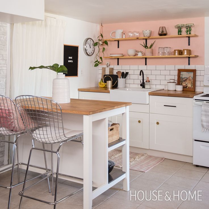 See how blogger Autumn Hachey added personality to her tiny kitchen on a budget. | Photo: Jason Stickley