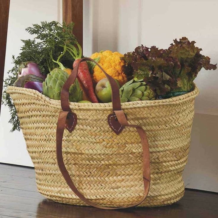 Double Handled Market Basket - VivaTerra  -  i like the idea, hate this shape.       lj