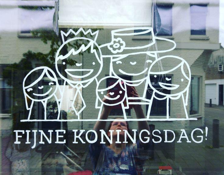 Koninklijke familie #raamtekening door Maartje