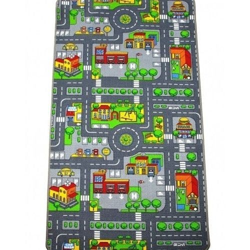 Kids Road Play Mat Rug Car Map Large Bedroom Childrens Toy