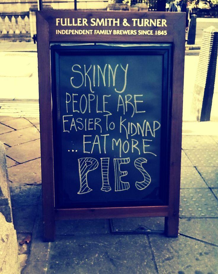 Pub blackboards #advertising is my favourite one! #streetmarketing #pubblackboarding