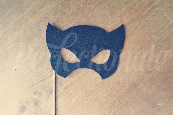 Felt Super Hero Mask Prop Super Hero Photo Prop by Perfectionate