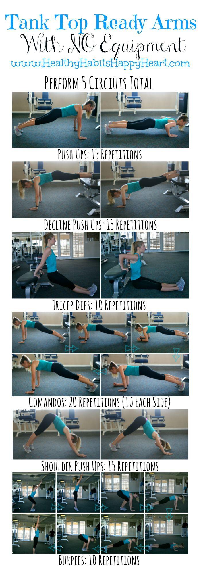 Upper Body Workout - No Equipment