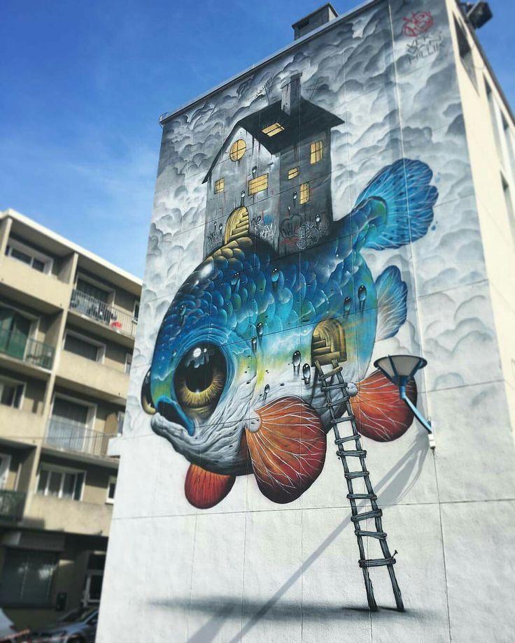 """New mural """"La Tortue"""" Veks van hillik"""