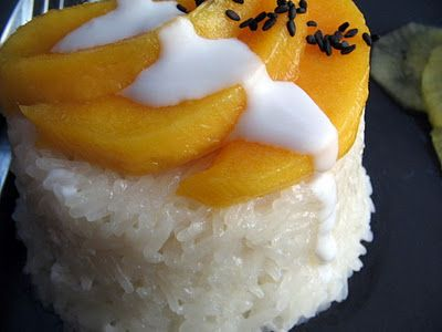 Sticky Coconut Rice with Mango | Foodie Wanderings. I love this exotic, tropical dessert.. refreshing and easy to make.