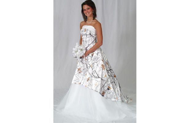 camo wedding dress | Snow Camo Wedding Dress | Redneck