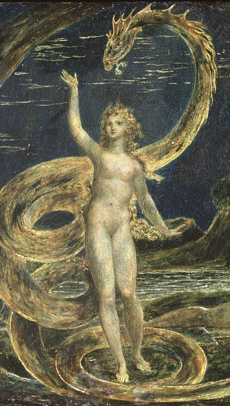 "William Blake: ""Eve Tempted by the Serpent"" (c.1799-80) (detail)"