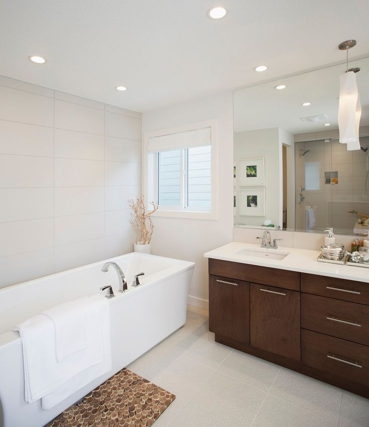Want To Go With A Wall Frameless Mirror In The 2nd Bathroom For