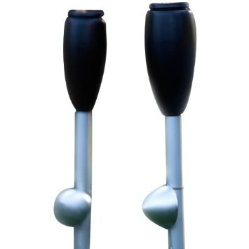 """Amazon.com: Two New Gray Danish Elipse Outdoor Garden Torch Sets, Patented Hands-free Scandinavian Design, 63"""" Tall, Plus Two 750ml Bottles of Danish Clean Green Oil, World's Only Non-toxic Non-flammable Alternative to Paraffin and Kerosene, Made From Vegetable Oil Not Petroleum, Patio Party Tiki Torch Path Lights From Denmark: Patio, Lawn & Garden"""