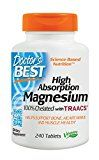 #3: Doctors Best High Absorption Magnesium Dietary Supplement 200 mg per 2 tablets 240 Tablets