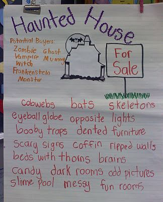 Haunted House for Sale.... Have students write to persuade someone to buy their haunted house. - CN