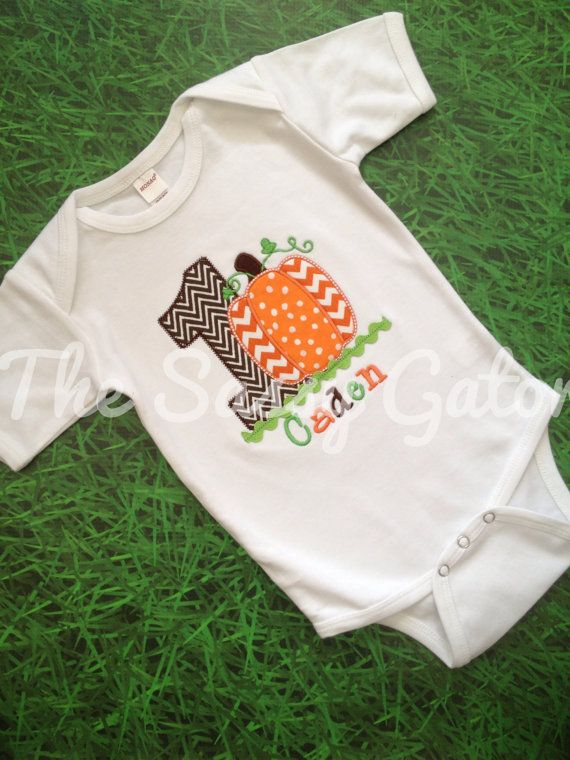 Fall PUMPKIN BIRTHDAY Personalized Applique T-Shirt-Birthday Party-Photos-Dress Up