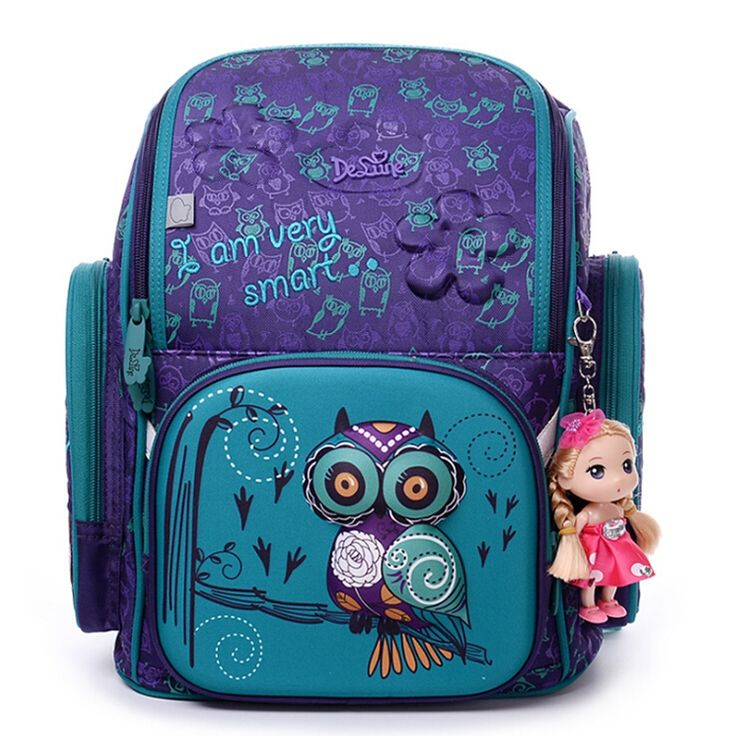 50$  Watch now - High Quality Brand School Bags for Girls 3D owl Bear Print SchoolBag Children Orthopedic Backpack Mochila Escolar Birthday Gift   #shopstyle