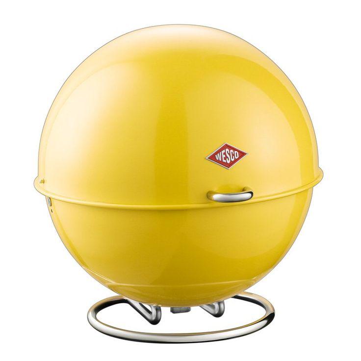Wesco Superball Bread Bin - Lemon Yellow