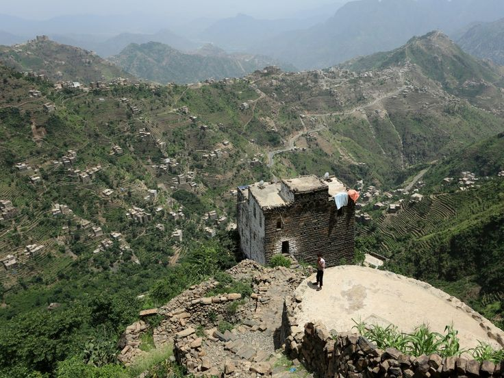 In these precariously perched homes, Yemeni people are removed from the civil…