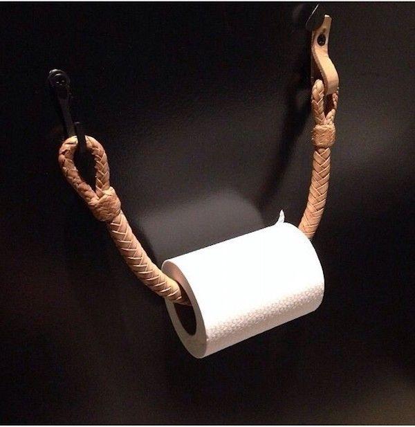 Einfache ausgefallene und DIY WC Papierrollenhalter zum Selbermachen